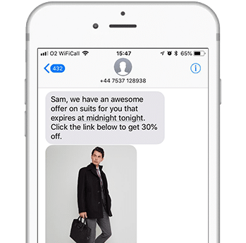 Text Message Personalized Shopper