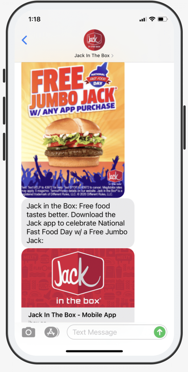 Photo Of Mobile Advertising With Jack In A Box Campaign